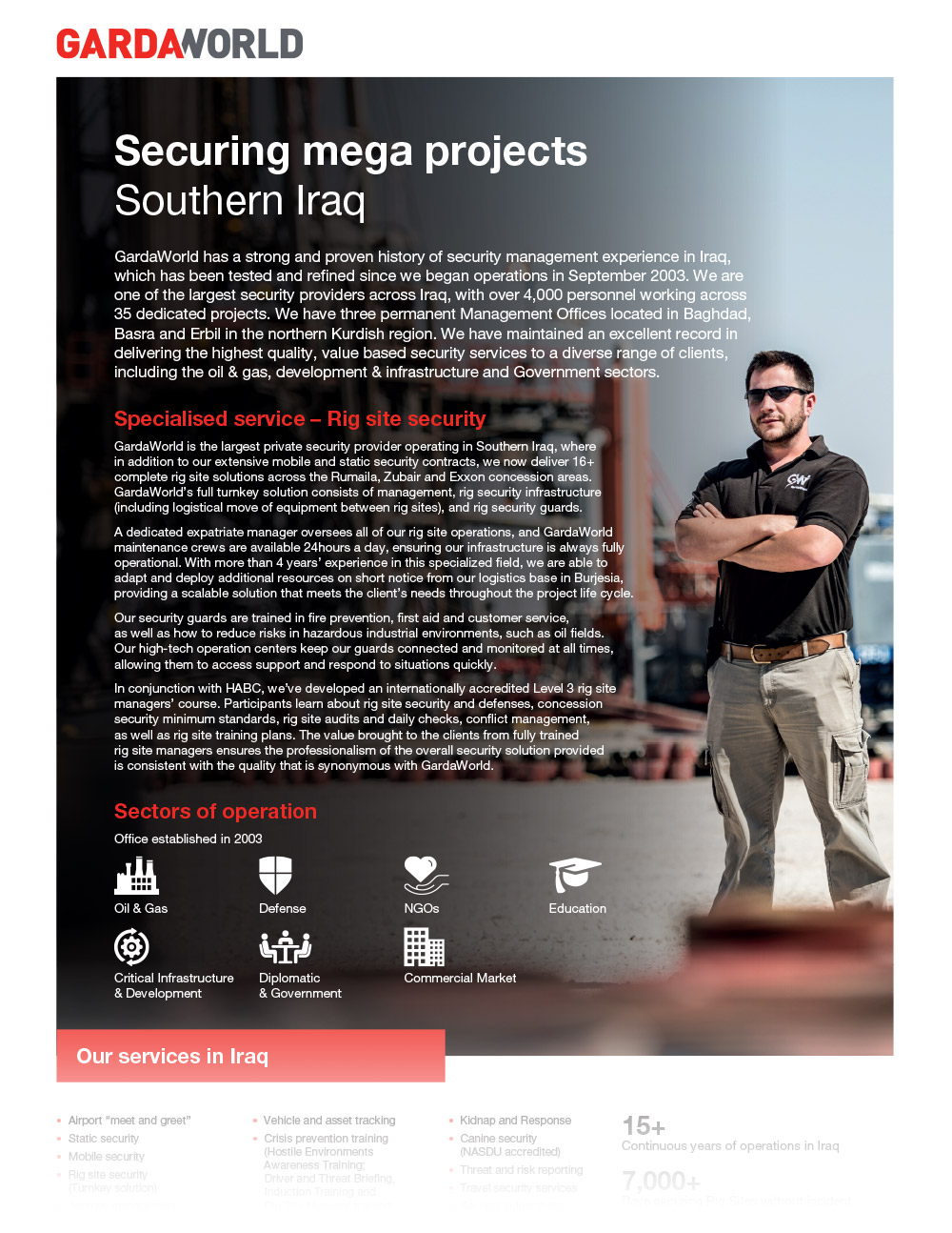 Securing mega projects in Southern Iraq