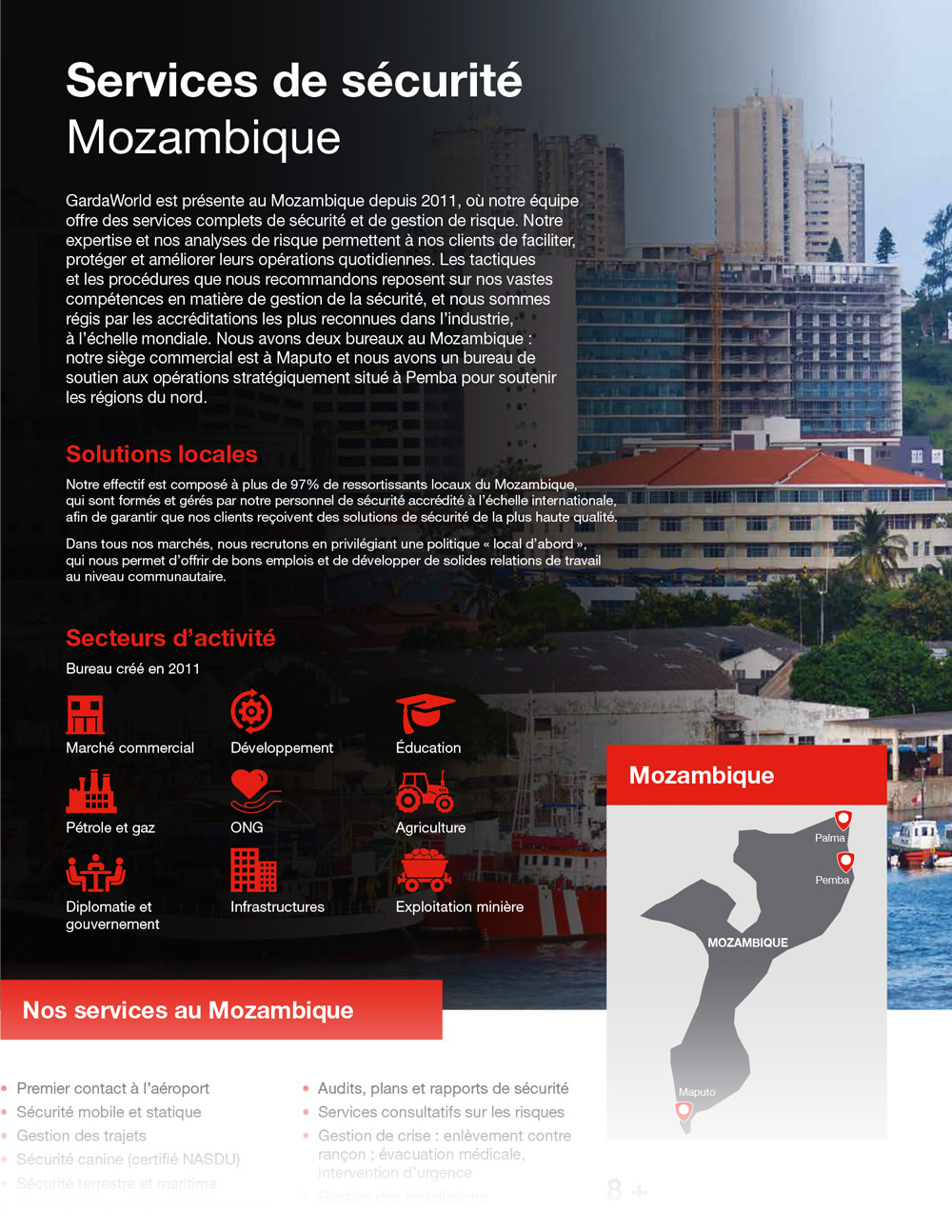 Mozambique Security Services securite