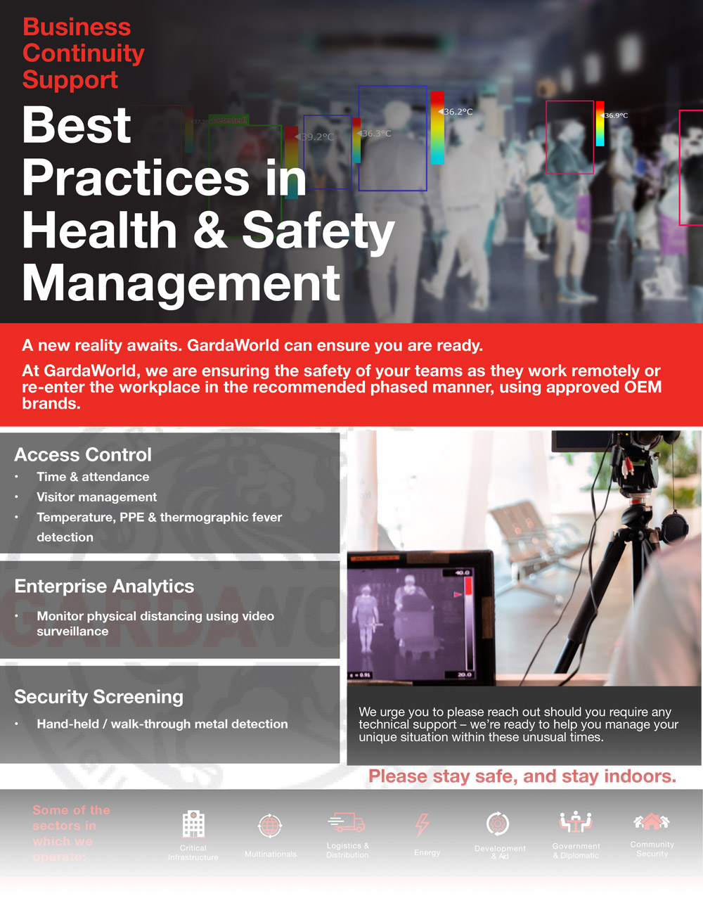 Best practices in health and safety