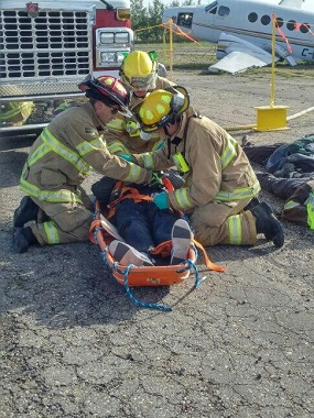 GardaWorld's airport security staff in Fort Saint John, BC took part in a simulated crash landing training exercise