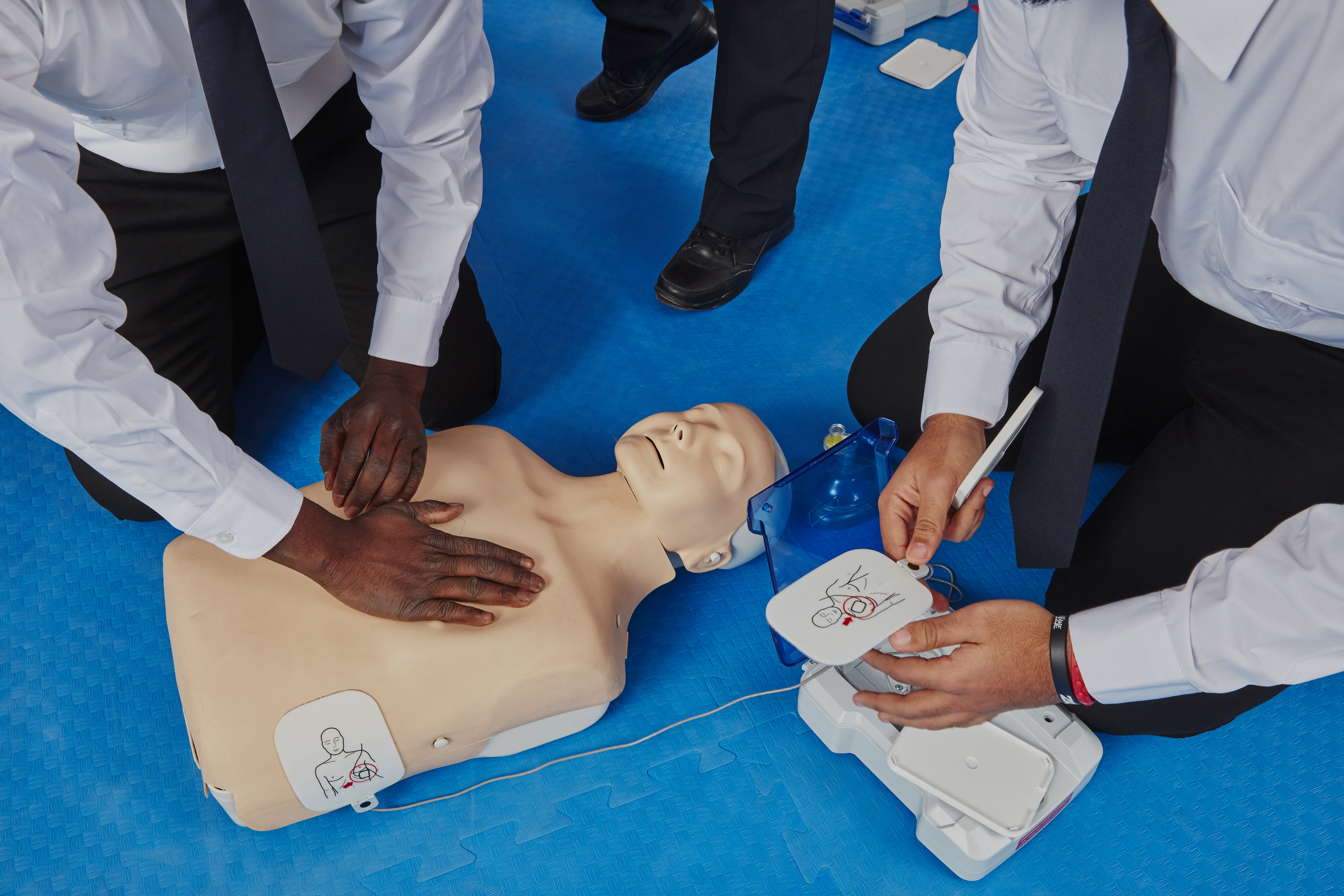 Security Guard students in a First Aid Training Class