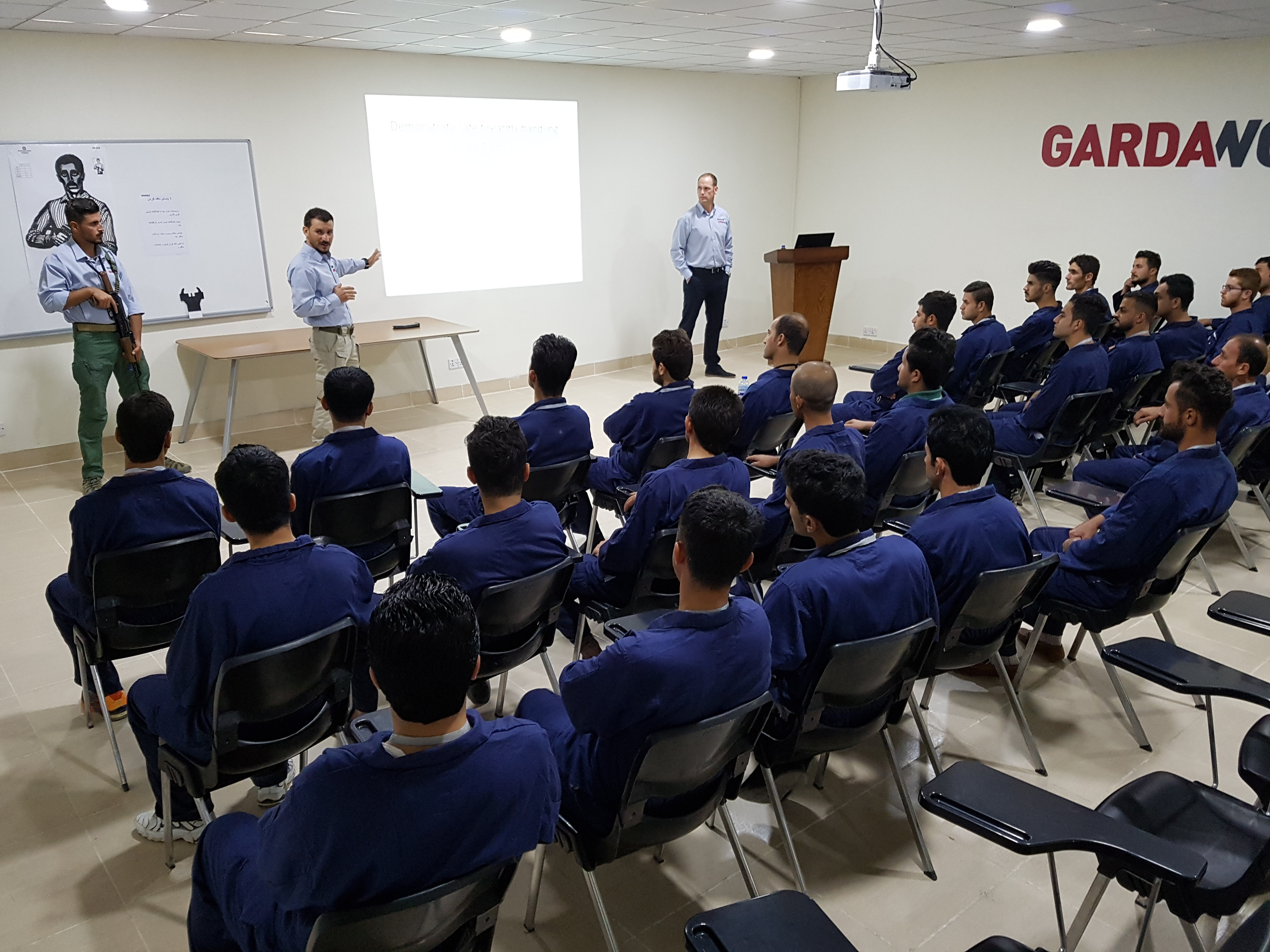 GardaWorld's training solutions and standard security training courses in session