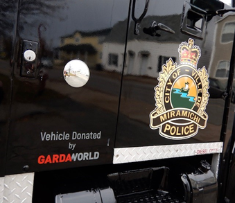 GardaWorld donates armored vehicle to Miramichi police force