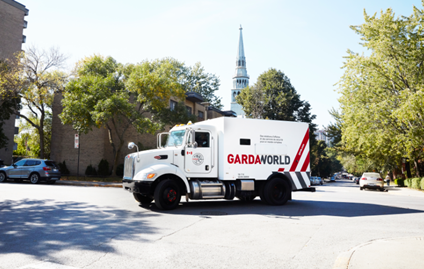 GardaWorld Cash services truck