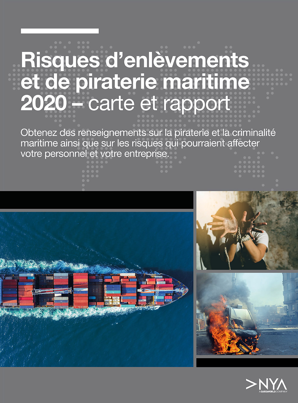 Carte des risques d'enlèvements et de piraterie maritime 2020 - telecharger