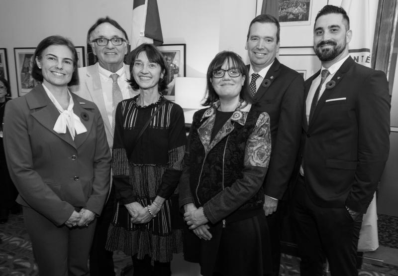 Lucie Tremblay, VIA Rail – Patrick Thomas, Veterans Transition Network – Marion Turmine, Veterans Transition Network – Claudine Barrette, Veterans Transition Network – L'honourable/ The Honourable Christian Paradis, GardaWorld – Sajid Rahman, True Patriot Love