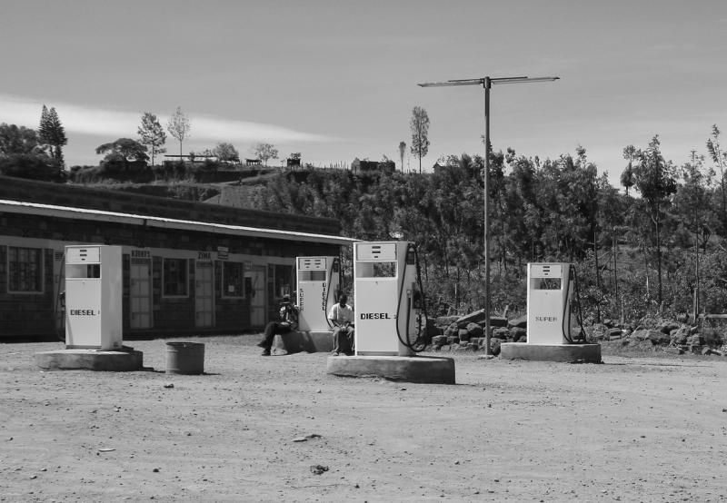 Petrol station in Kenya, Africa
