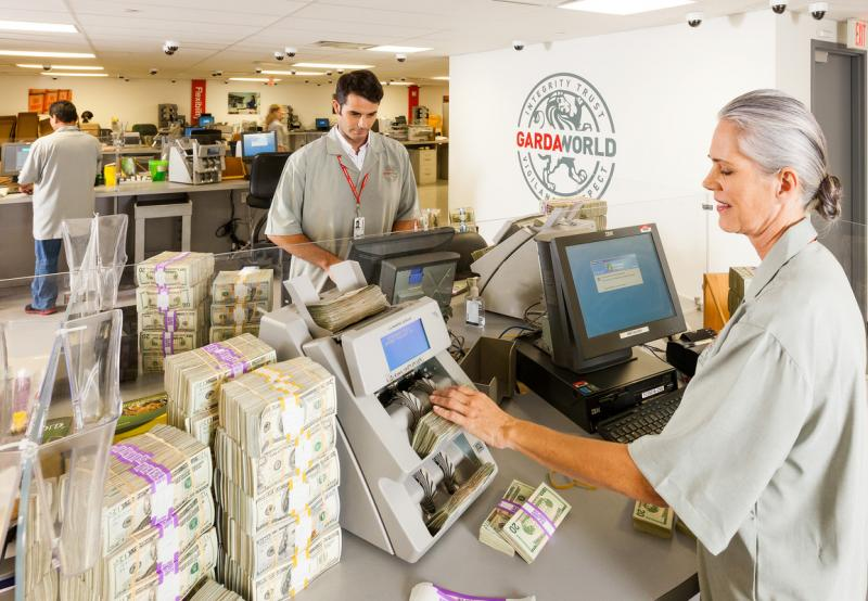 Cash Services Vault Personnel Processing US Cash People Photo