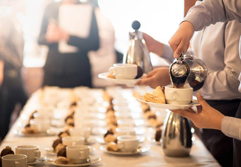 GardaWorld's catering services include  serving coffee