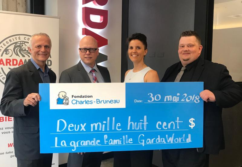 GardaWorld donation to the Charles-Bruneau Foundation