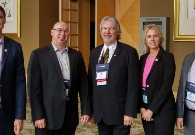 Photo (from left to right): Scott Young, Luc Rousseau, Martin Green – IAHSS President, Leighanne Wilson and Jean-Étienne Charbonneau.