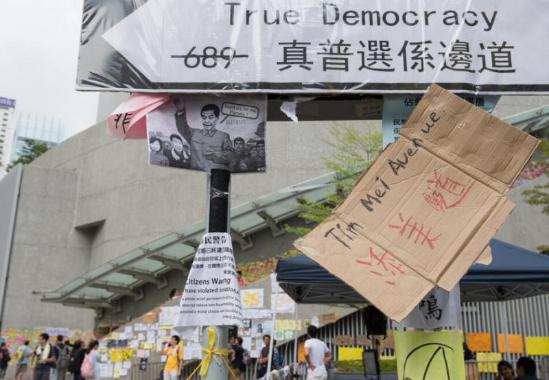 Hong Kong True Democracy protest
