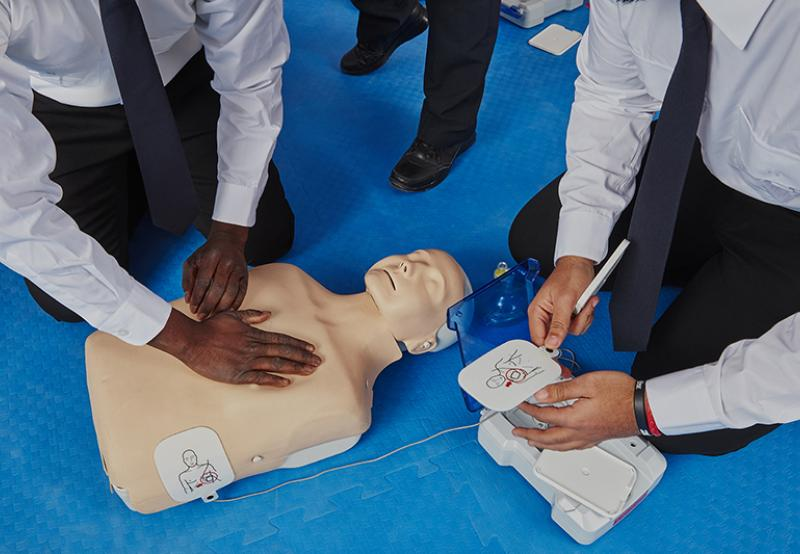 Security Guard students in a First Aid Training