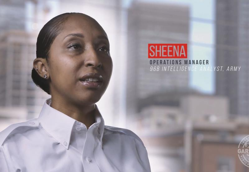 Sheena, a U.S. Army veteran and former police officer, is now a cash services operations manager.