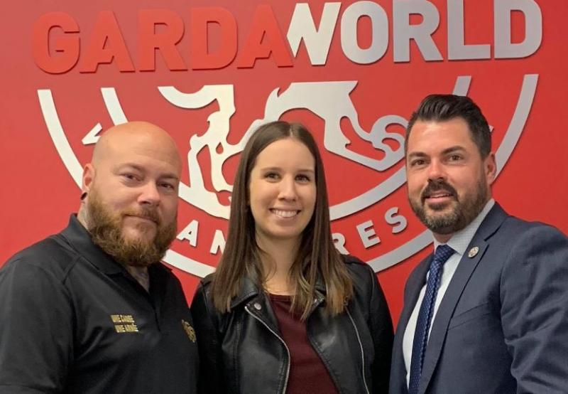 From left to right: Martin Duhamel (Major donor of the Breakfast Club of Canada and President of Marty's Shop and Reborn), Aryann-Sarah Veilleux (Development Advisor, Breakfast Club of Canada), Pierre-François Hervieux (Business Development Director of Security Services, GardaWorld)