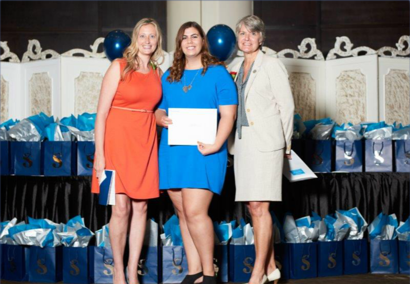Danielle Weddepohl (Program Coordinator, Investigation – Public and Private Program, Sheridan College), Alexandra Alessi (award recipient), Colleen Arnold (Vice President, National Customer Service Excellence and Operations - Central & Atlantic Canada, GardaWorld)