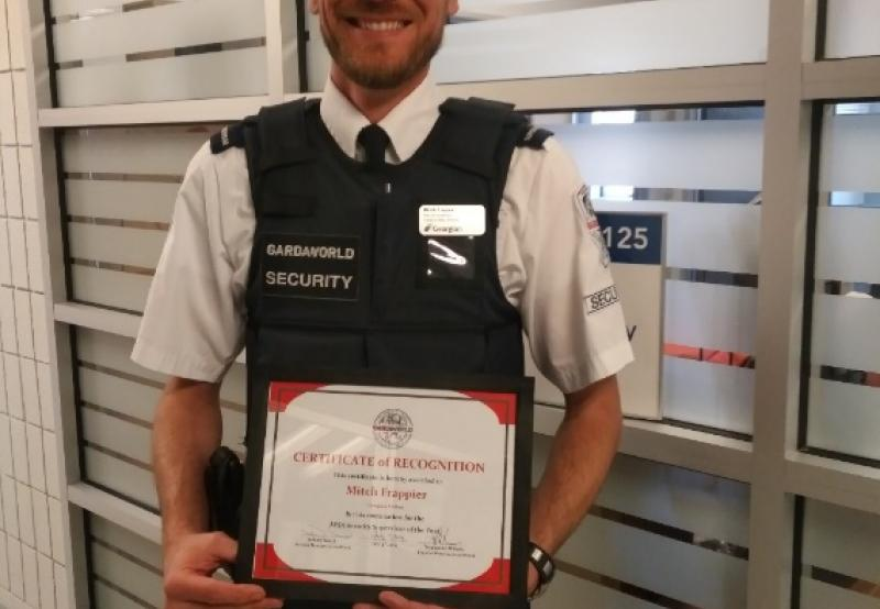APSA security site supervisor of the year award