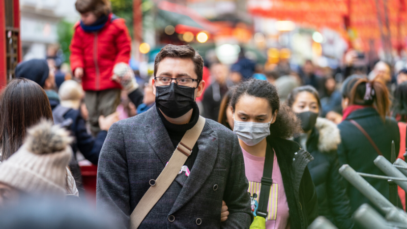 People wearing masks to protect themselves against coronavirus