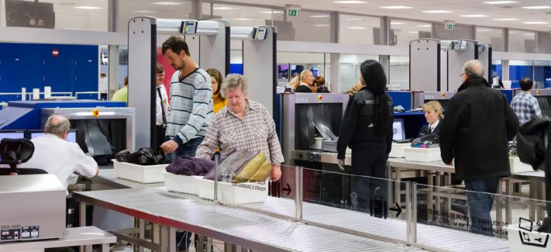 Airport security baggage check