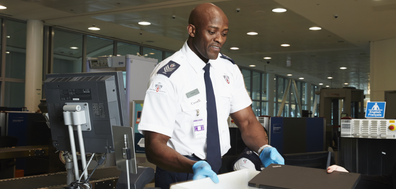 Airport security guard