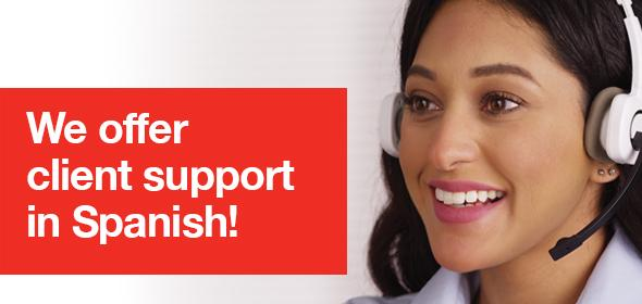 We offer client support in Spanish!