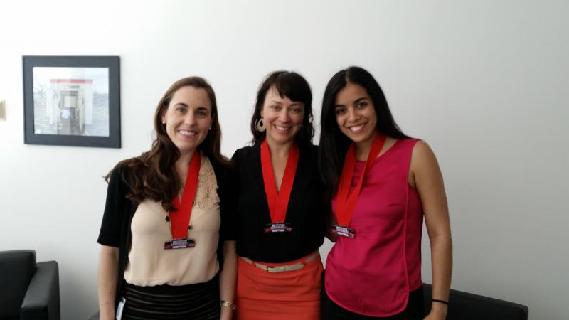Pictured left to right: Lorena Bresani, Nathalie de Champlain, Franchesca Martinez